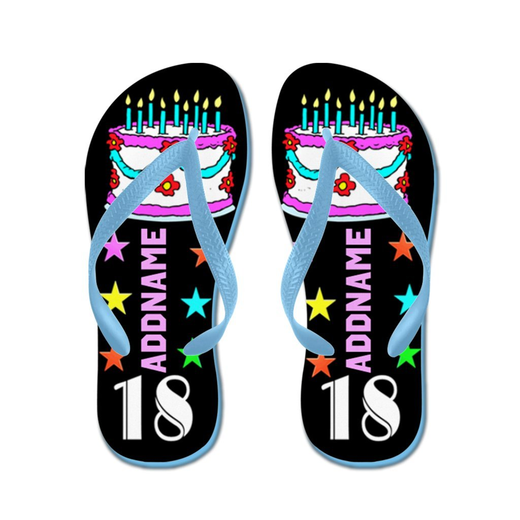 Lplpol Personalizable Customized Fantastic 18th Flip Flops for Kids and Adult Unisex Beach Sandals Pool Shoes Party Slippers
