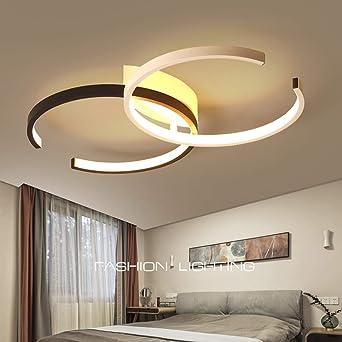 Plafonnier Chambre LED Luminaire Salon Salle de Bain Dimmable 3000K-6500K  Avec Télécommande Plafond Lampe Moderne Chic Forme de Fleur Métal Acrylique  ...