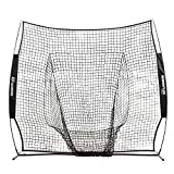 Champion Sports Baseball Softball Net: Rhino Flex Baseball/Softball Pitching and Batting Training Net - Portable Hitting and Throwing Practice Net