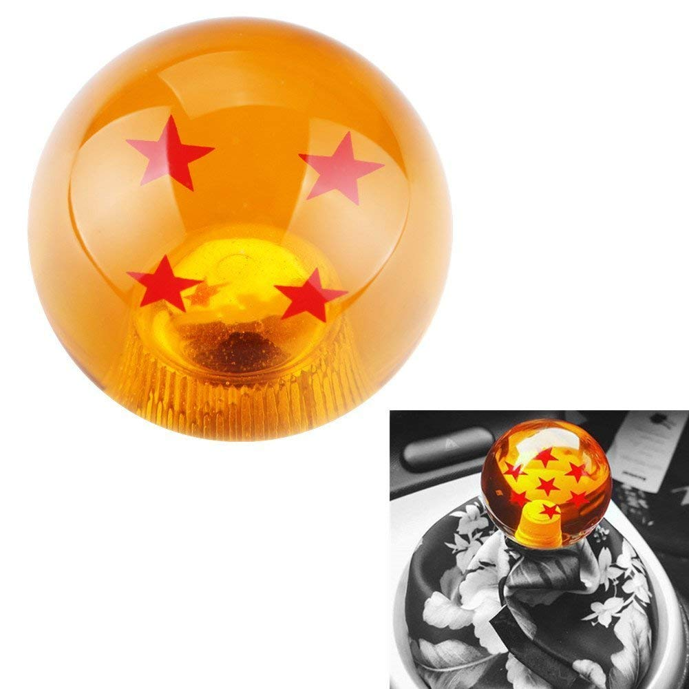 Universal 4 Stars Dragon Ball Z Gear Shift Knob 4 5 6 Speed Dragon Ball Z Gear Shift Knob Round Fit for Toyota Honda Infiniti Lexus Mazda Mitsubishi Mustang Nissan Scion Subaru Acura Jetta