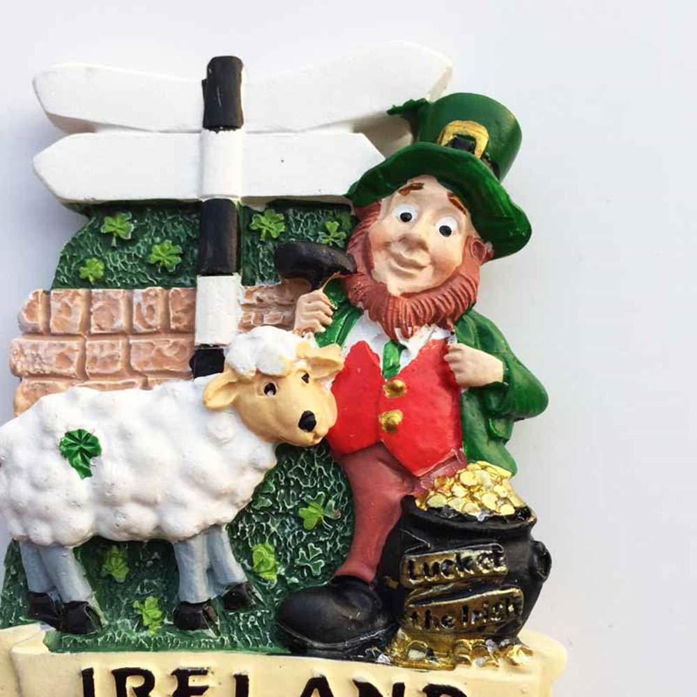 Souvenir da Viaggio MUYU Magnet Magnete da frigo Irlandese Decorazione per casa e Cucina Idea Regalo