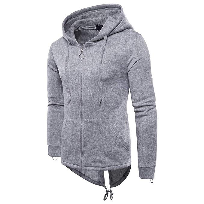 2b73be59c64c YKARITIANNA Mens Soft Comfy Zip Up Jackets, Casual Autumn Long Sleeve  Pullover Sweatshirt Hoodie Zipper Coat Top for Men at Amazon Men's Clothing  store: