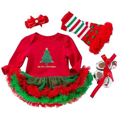 Vestidos Navidad Ropa Bebé Peleles Bebe Niña Monos Navidad ...