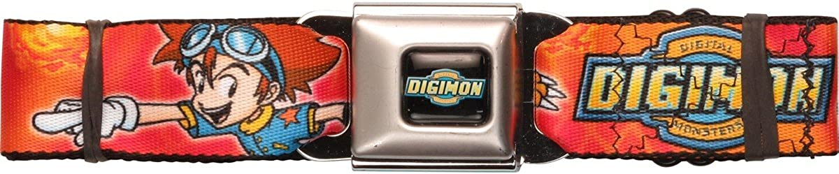Digimon Tai Agumon Poses Seatbelt Belt