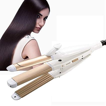 aiyoo 3 en 1 Alisador de cabello profesional multifunción cerámica turmalina pelo rizado pelo plancha para