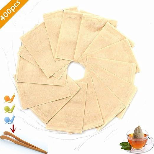 400 bolsas de filtro de té, material de papel de filtro de ...