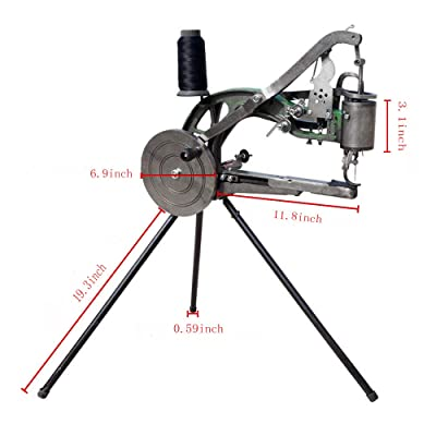 FISTERS Hand Machine Cobbler Shoe Repair Machine Dual Cotton Nylon Line Sewing Machine