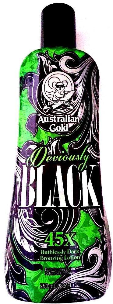 Australian Gold Deviously Black 45X Dark Bronzer Indoor Tanning Bed Lotion 8.5 Oz/ 250 Ml New Sunshine
