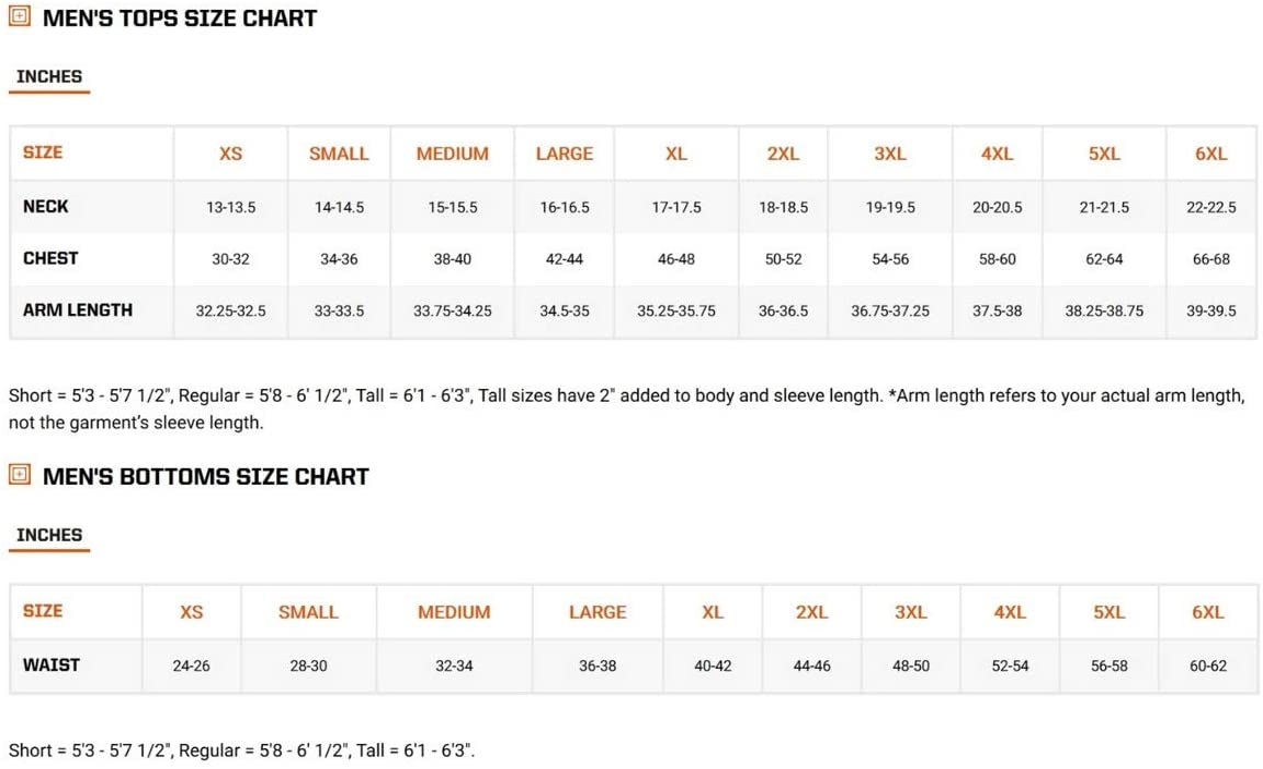 5.11 Mens Taclite Pro 11 Shorts