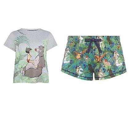 b032372da Primark Ladies Disney Jungle Book Pyjamas T Shirt Shorts PJ Set (UK M  10-12): Amazon.co.uk: Clothing