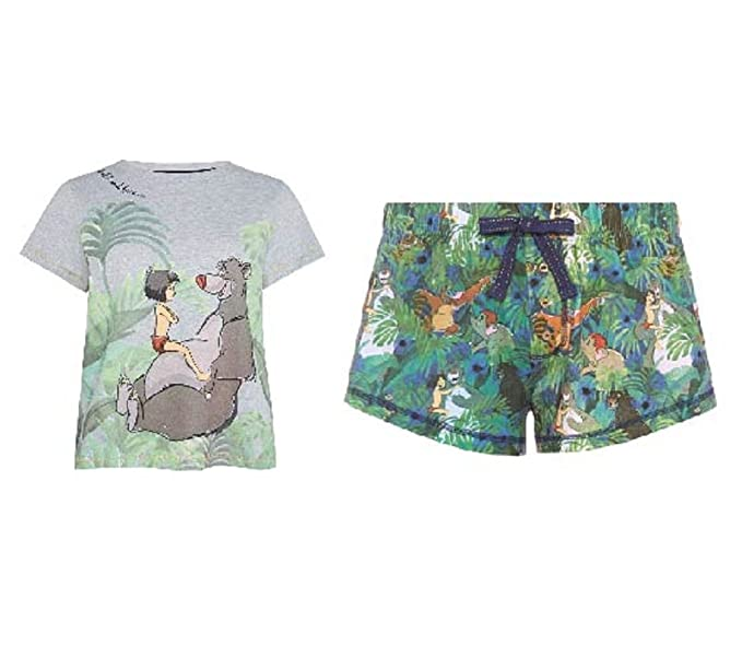 Primark Ladies Disney Jungle Book Pyjamas T Shirt Shorts PJ Set (UK ...