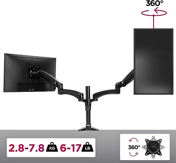 Duronic Dm552 Monitorhalterung Tischhalterung Monitorarme Monitorständer Für Lcd Led Computer Bildschirme Fernsehgeräte Mit Neig Und Rotierfunktion Küche Haushalt