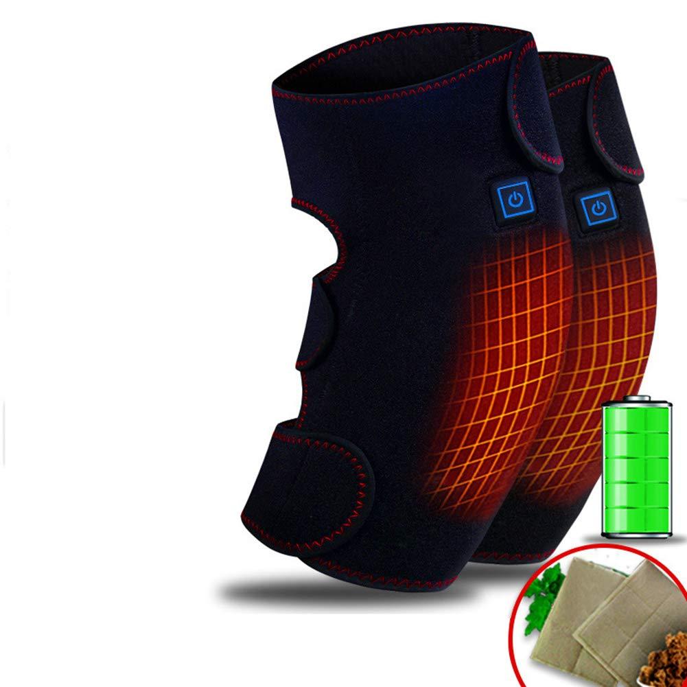 ALXDR Tragbare Knie-heizkissen Beheizte Knieorthese, 3 Einstellungen Hot Therapy Compress Und Kniemassage Zur Erwärmung Der Gelenkentlastung Schmerzen Im Knie, Steif, Arthritis, Dehnungen,A
