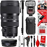 Sigma 50-100mm f/1.8 DC HSM Art Lens for Canon DSLR Cameras + 32GB 20PC Bundle for 80D, 77D, 70D, 60D, 60Da, 50D, 7D, 6D, 5D, 5DS, 1DS, T7i, T7s, T7, T6s, T6i, T6, T5i, T5, SL2 and SL1