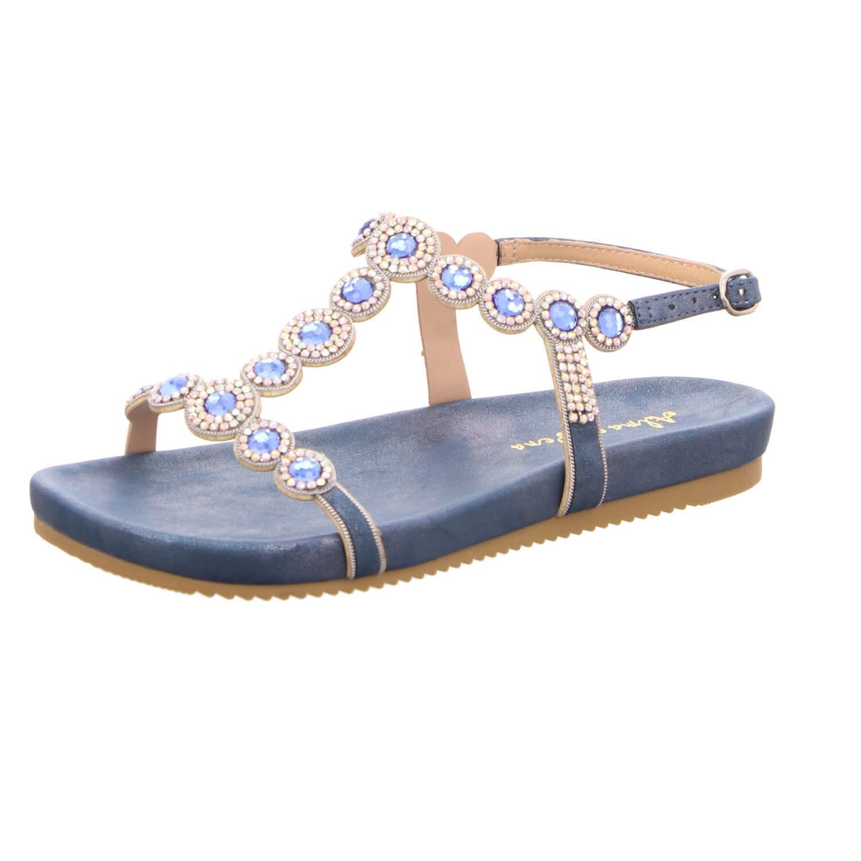 Blau Alma en Pena Damen Sandaletten 885 BLLU blau 680389