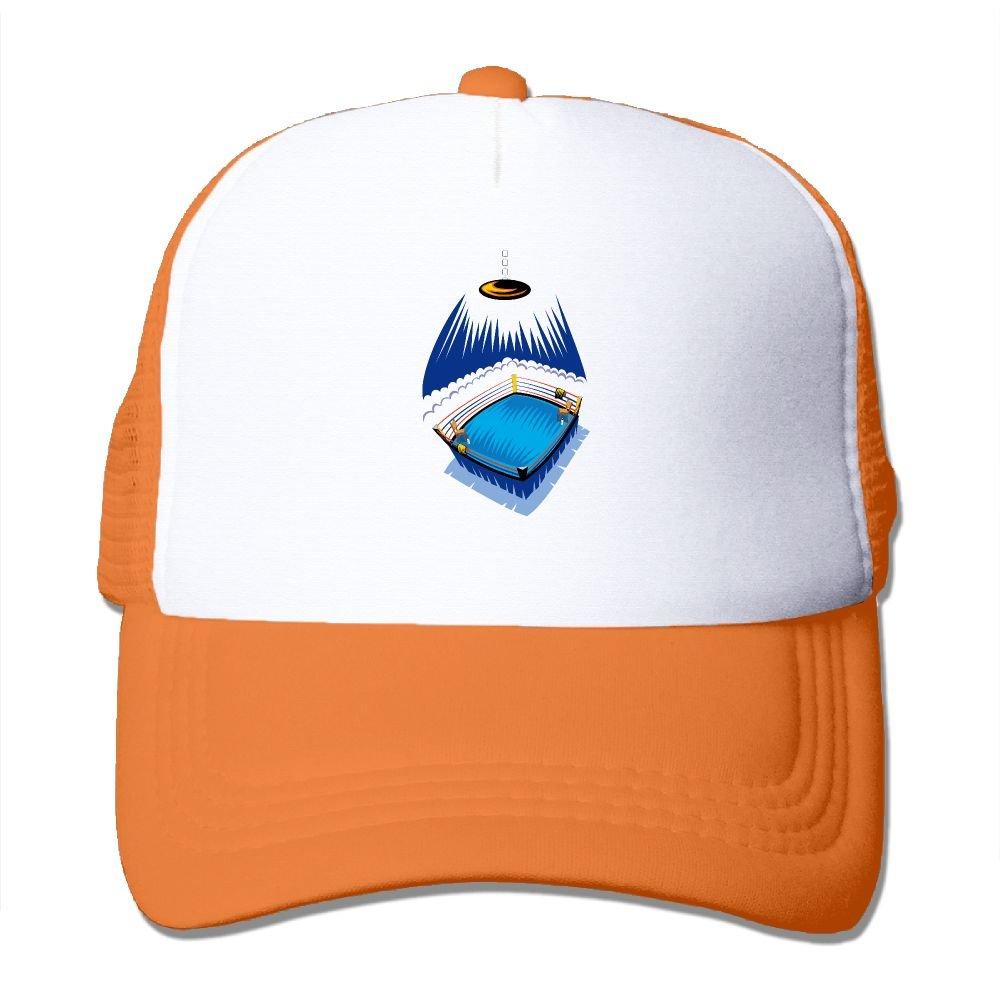 Teesofun Mesh Baseball Caps Blue Boxing Ring Art Unisex Adjustable Sports Trucker Cap