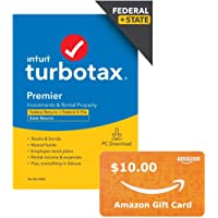 Deals on TurboTax Premier 2020 Tax Software PC + $10 Amazon Gift Card