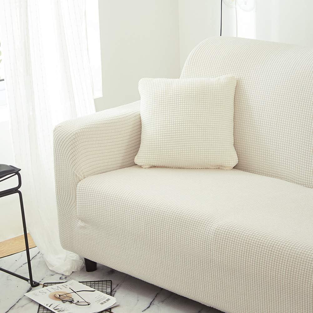 Anti-Slip Loveseat Sofabezug,weich Elasthan Jacquard M/öbel Protektor Maschine Waschbar-beige 1-sitzer Volle Deckung Stretch Sofa Schonbezug 90-140cm