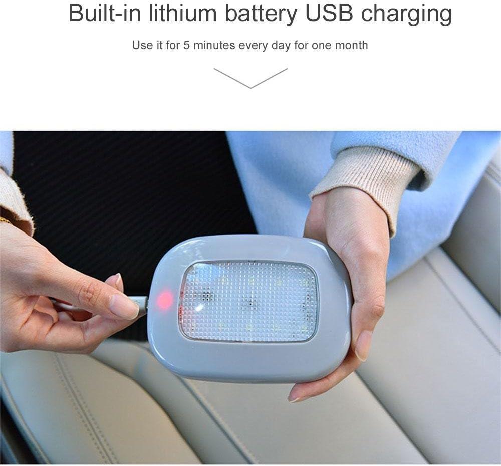 Ice Blue Pawaca auto tetto soffitto interno Beige wireless LED luce di lettura con magnetico succhiare per auto universale USB batteria auto della luce bagagliaio