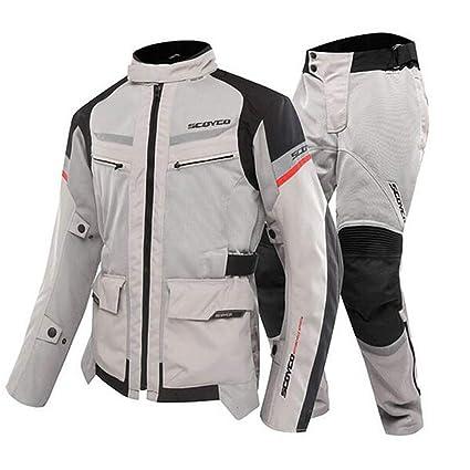 ANTLEP Traje de Moto Chaqueta + Pantalón de Motorista Tela ...