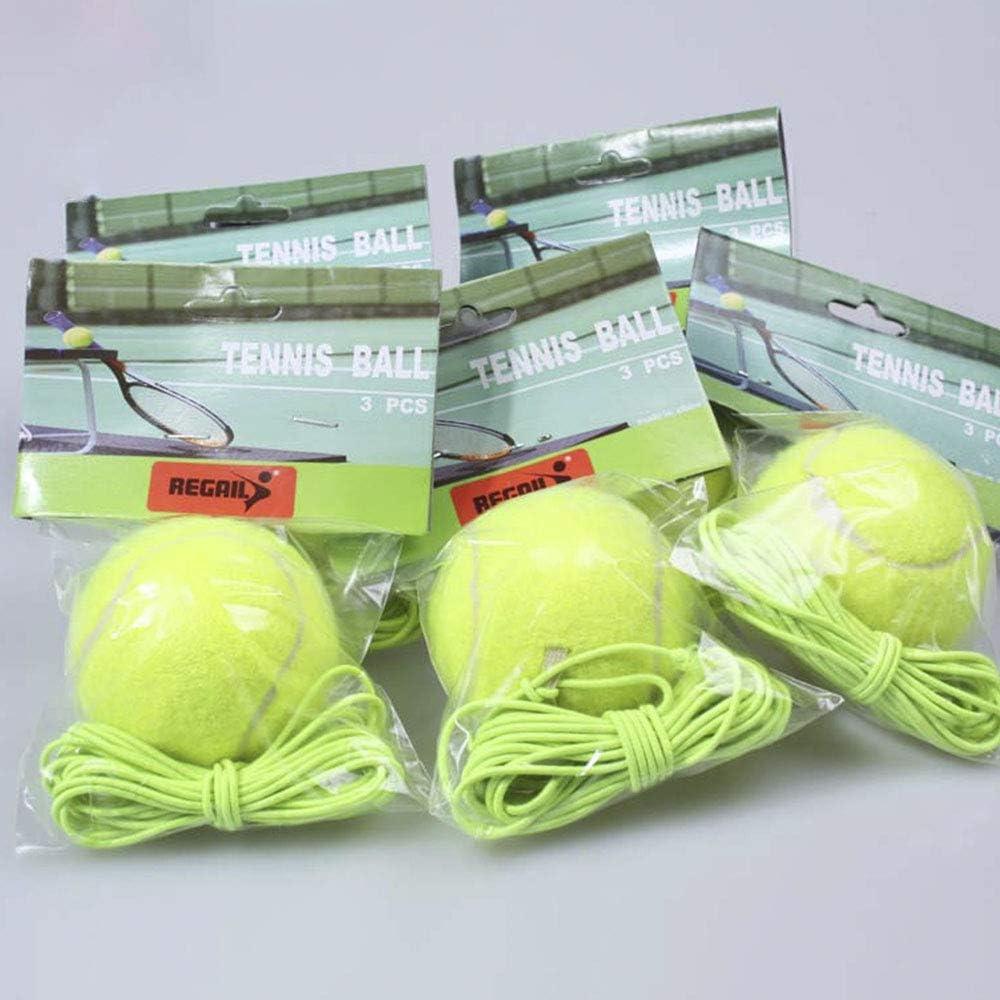 Palla da tennis con corda elastica e strumento di ricambio per singolo giocatore di tennis ideale per allenamento al chiuso ed allaperto Chanhan durevole e leggero
