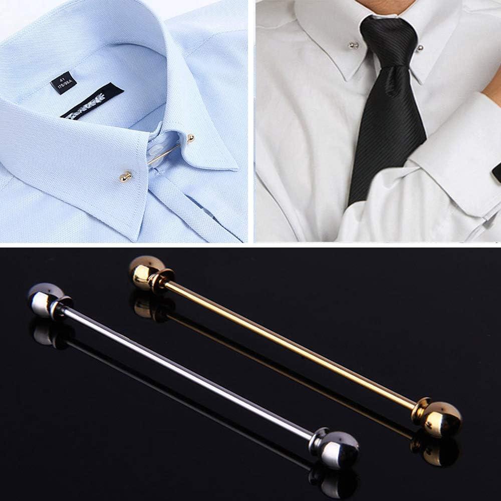 JueYan - Broche para cuello de camisa, alfiler de corbata, pino, collar/tie, accesorios para disfraz de hombre, regalo de plata, dorado: Amazon.es: Hogar