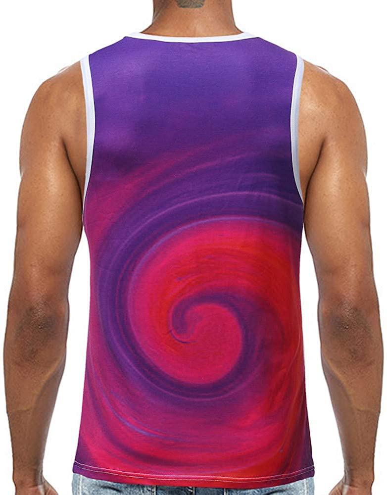 STORTO Mens 3D Print Running Tank Tops Cool Dry Casual Sleeveless Fit Tee Shirts