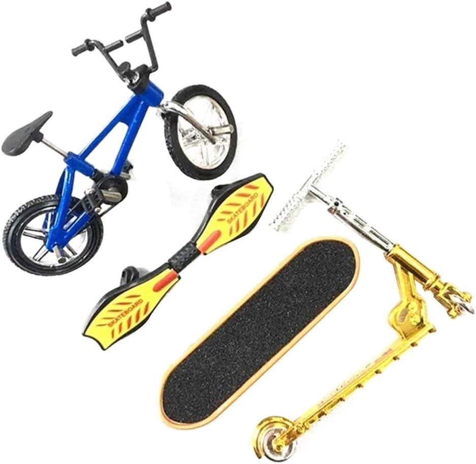 Set di giocattoli per skateboard con dita flessibile e divertente blu