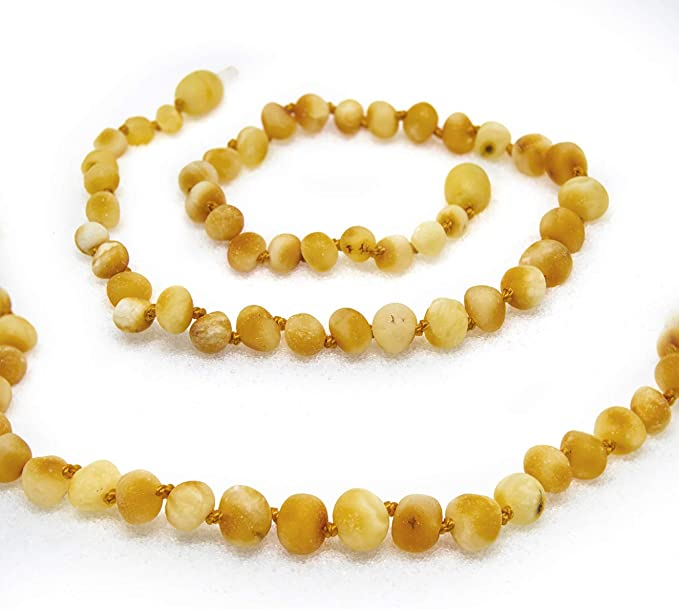 Raw Butter FTIR Lab Tested Authentic Amber The Art of Cure Baltic Amber Necklace 17 inch