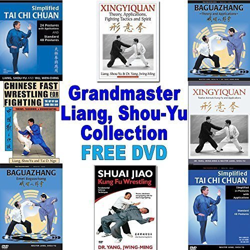 DVD Bundle: Tai Chi, Bagua, Xingyi, Wrestling, Kung Fu Grandmaster Collection **YMAA LIANG, SHOU-YU** 4 books / 4 DVDs