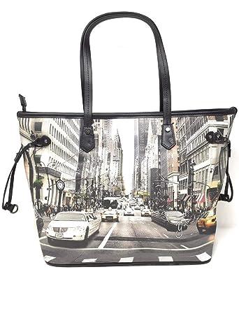 YNOT Shopping Bag Medium YES 319F0 BLACK NEWYORK 44,5 x 16,8