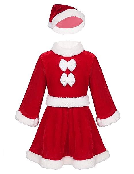 MSemis Traje Navidad Santa Claus para Niños Vestido Navidad Niñas ...