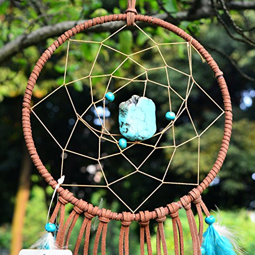 Ricdecor Indian Dream Catcher Wind Chimes Feather Pendant