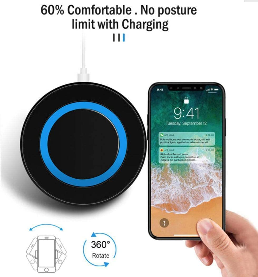 Shonlinen Wireless Charger,Multi-Function QI Mobile Phone Wireless Charger Transmitter