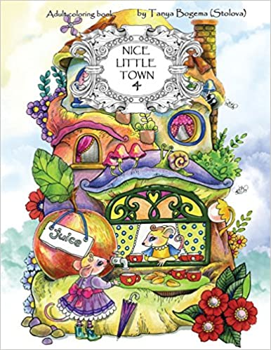 Amazon.com: Nice Little Town: Adult Coloring Book (Stress Relieving ...