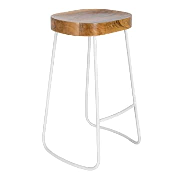 Homescapes Ernest Barstool Handcrafted With 100 Heavyweight Solid