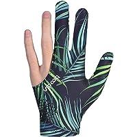 Guantes de billar Clyhon 1Pcs, guante de billar de tres dedos para hombre (color de hoja)