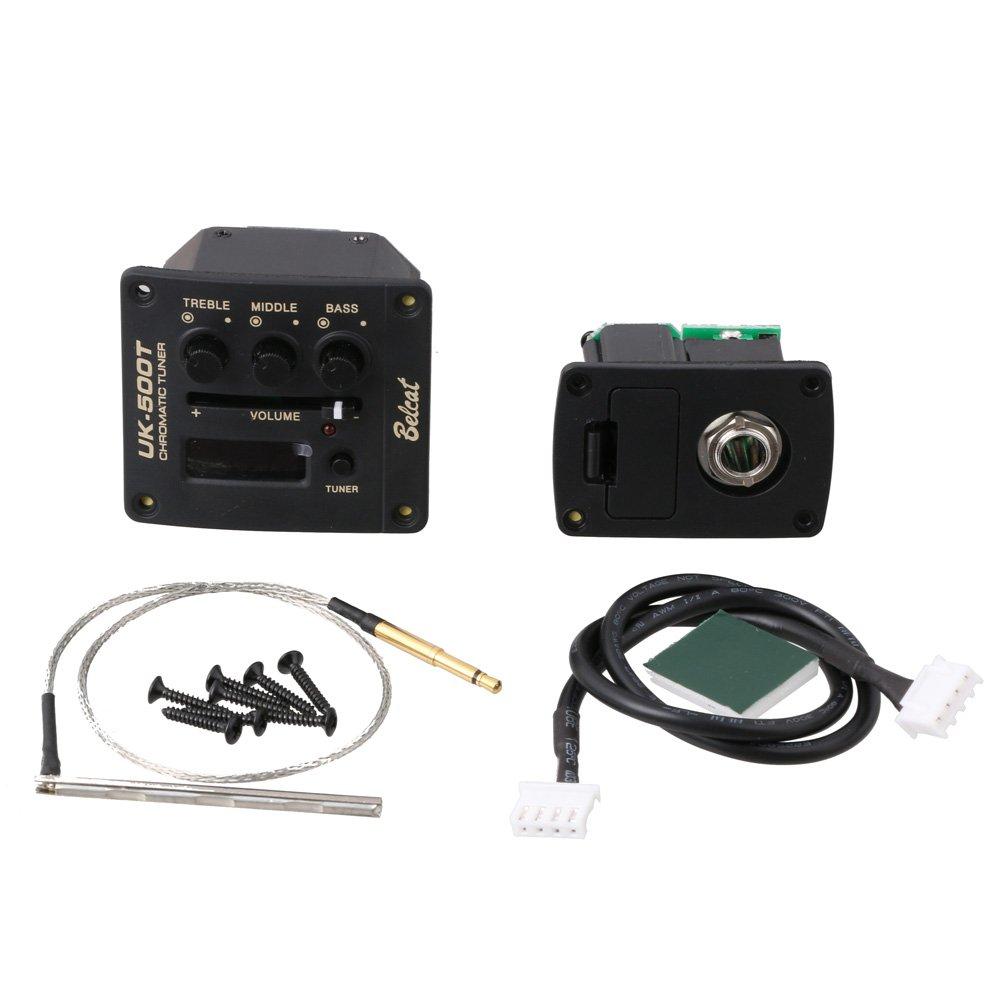 LYWS BELCAT UK-500T Ukulele Ukelele Piezo Pickup Preamp 3-Band EQ Equalizer Tuner System with LCD Display by LYWS