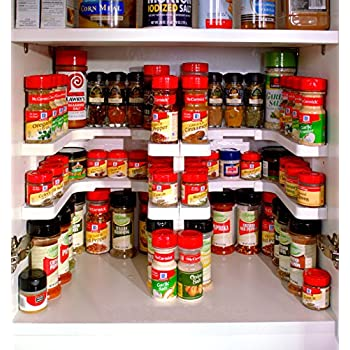 Amazon.com: Edenware Expandable Spice Rack and Cabinet Organizer ...