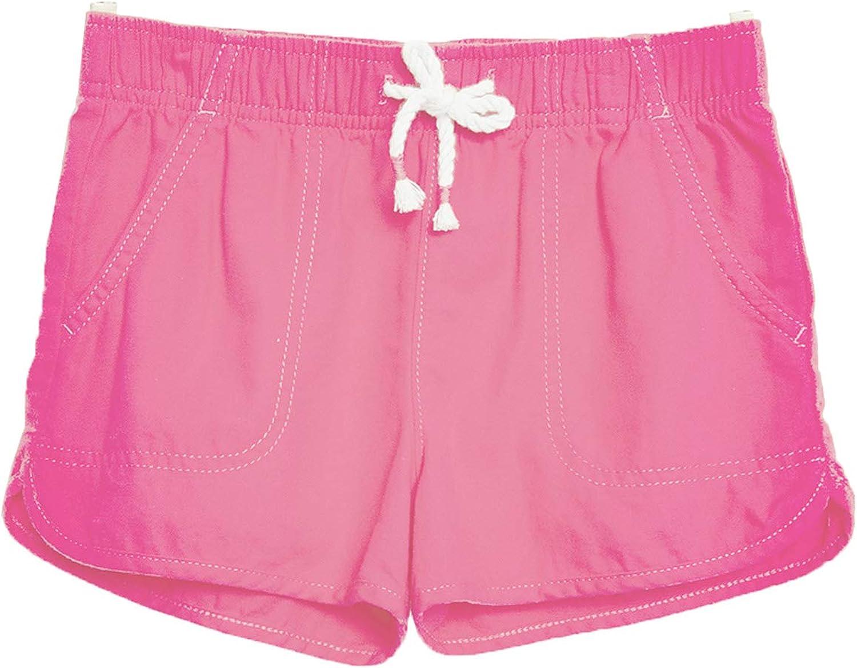 M.D.K Girls Cute Elastic Waist Drawstring Pull On Athletic Shorts