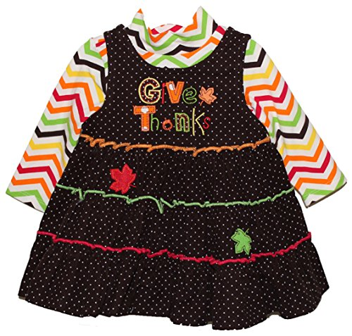 'Give Thanks' Two Piece Thanksgiving Baby Girl Outfit