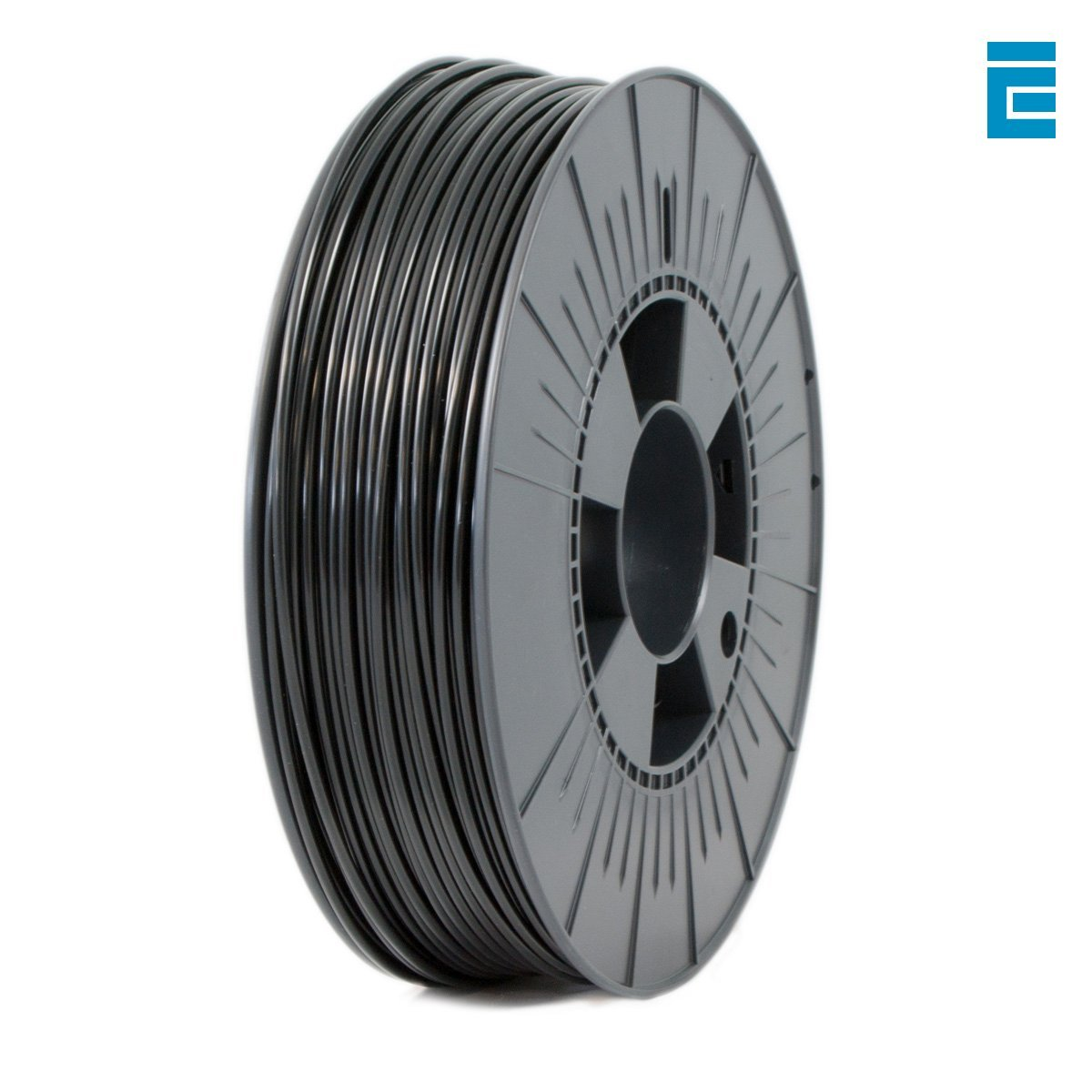 Ice Filaments ICEFIL3PLA004 Filamento PLA 2.85mm, 0.75kg, Nero Dutch Filaments