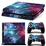 MATTAY PS4 Whole Body Vinyl Skin Sticker Decal Cover for Playstation 4 System Console and Controllers – Starry Galaxy For Sale
