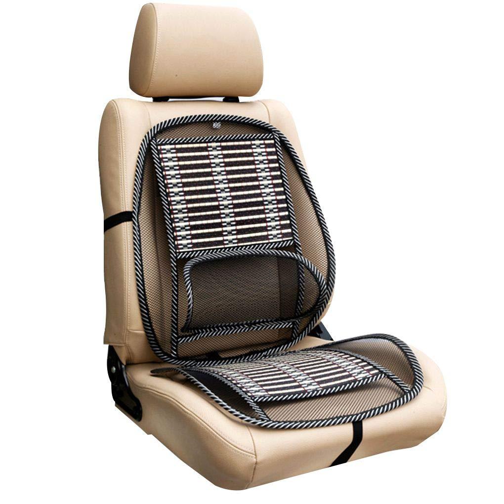 Fgyhty Filo Vita Spine Protezione del Veicolo Acciaio Cuscino del Sedile Traspirante Cintura Elastica di bamb/ù Auto rilievi della sede Mats