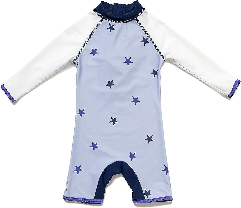 Badekleidung MIT Einem Rei/ßverschluss BONVERANO Baby Junge Badeanzug EIN st/ück Lang/ärmelige-Kleidung UV-Schutz 50