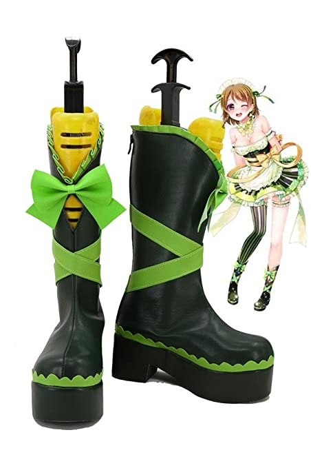 LoveLive! Love Live Happy Valentine's Day Maid Live! Koizumi Hanayo Cosplay Shoes Boots Custom Made