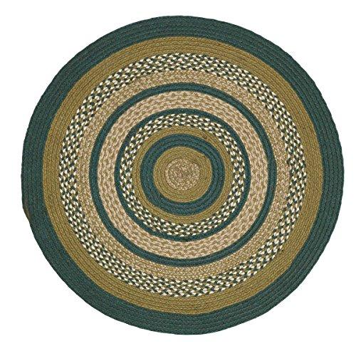 VHC Brands Rustic & Lodge Flooring - Sherwood Green Round Jute Rug, 3' ()