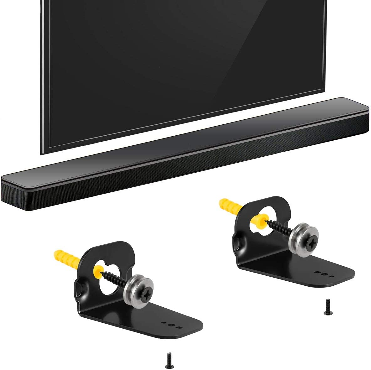 Loyeen Pair Soundbar Wall Mount Bracket for Samsung HW-M360 HW-K550 HW-M550 HW-K650 HW-K430 HW-K335 HW-K651 HW-K450 AH61-04106A Sound bar Speaker Come with Mounting Screws Accessories
