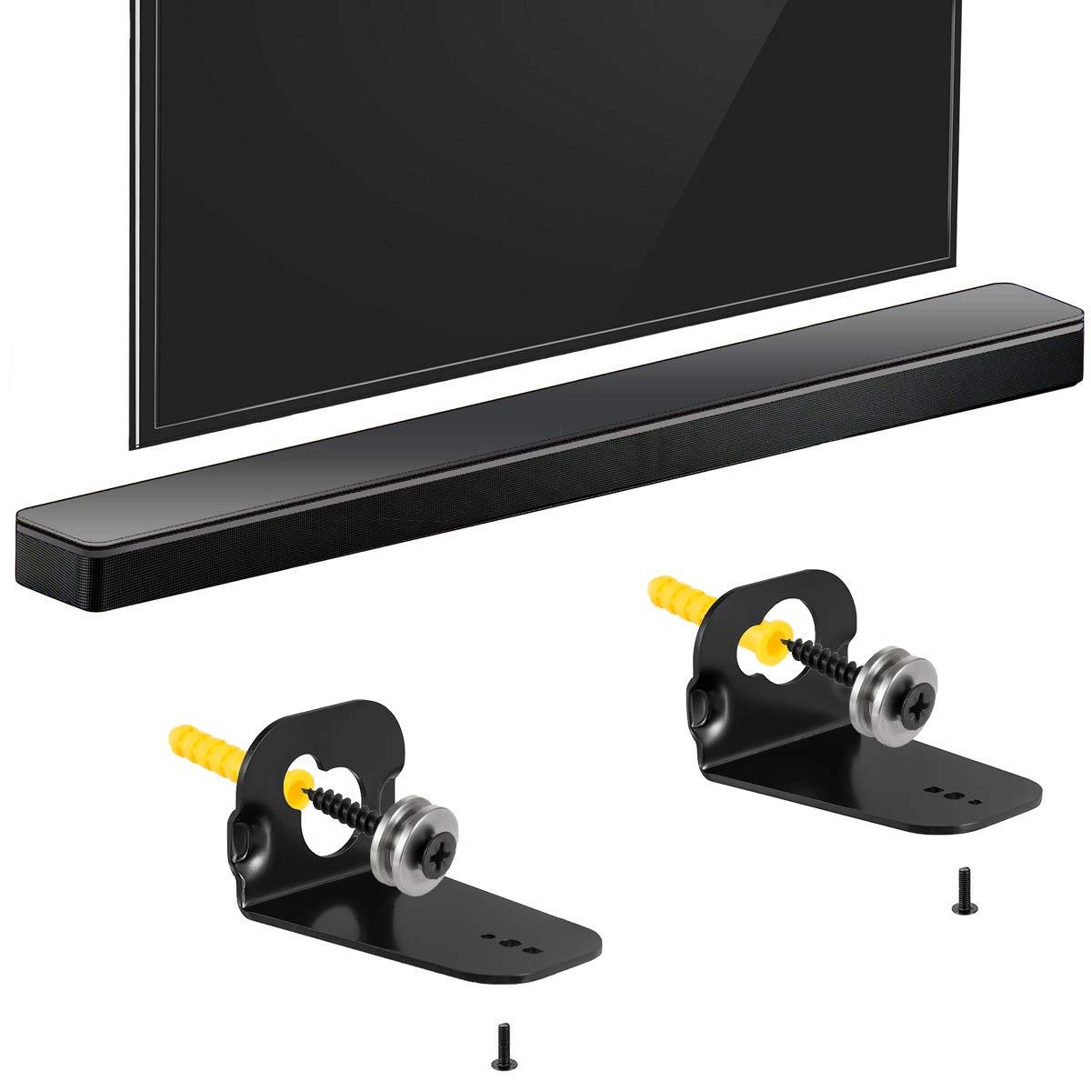 YUHUA ELE Soporte de Pared para Samsung HW-K335 Barra de Sonido Negro Soundbar Soportes de Pared para Altavoces