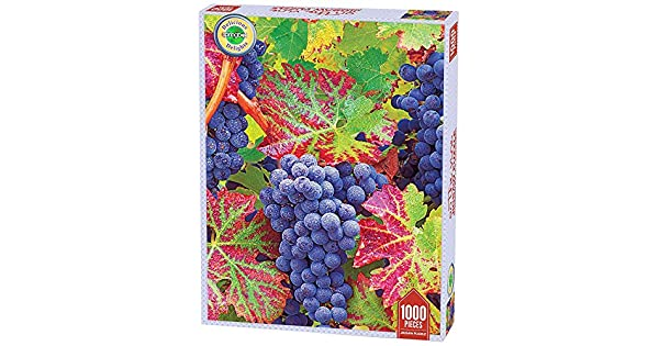 Unique Cut Interlocking Pieces 1000 Piece Jigsaw Puzzle Springbok Puzzles Made in USA Large 26.75 Inches by 20.5 Inches Puzzle Grapes On The Vine